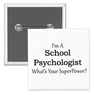 School Psychologist 2 Inch Square Button
