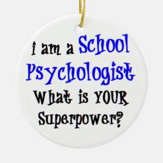 school psychologist ceramic ornament