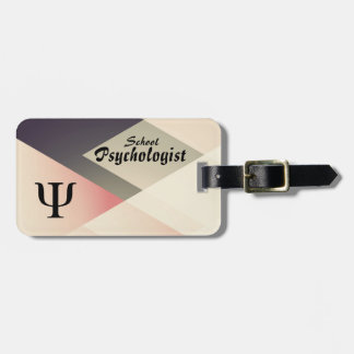 School Psychologist Luggage and Laptop Tag