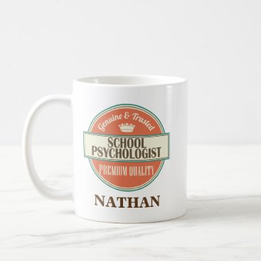 Beach Themed School Psychologist Personalized Office Mug Gift