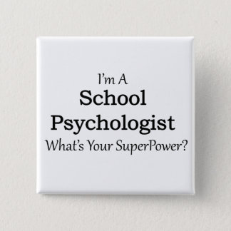 School Psychologist Pinback Button