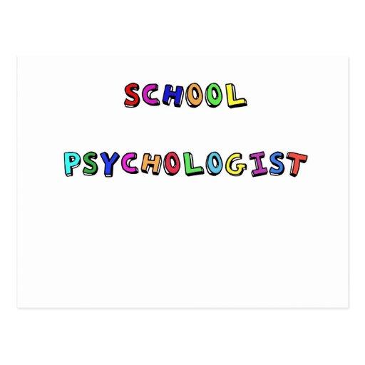 SCHOOL PSYCHOLOGIST POSTCARD