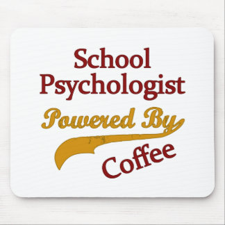 School Psychologist Powered By coffee Mousepads