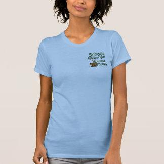 School Psychologist Powered by Coffee Tee Shirt