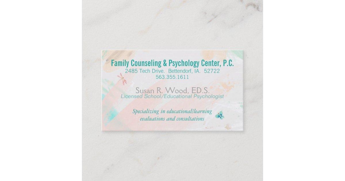 School Psychologist Private Practice Business Card | Zazzle.com