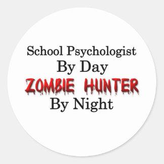 School Psychologist/Zombie Hunter Classic Round Sticker