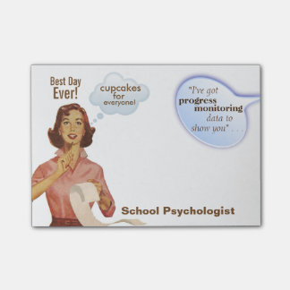 School Psychologist's BEST DAY EVER Sticky Notes Post-it® Notes