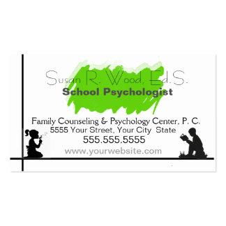 School Psychologist's Business Card