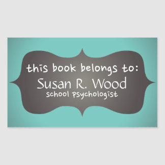 School Psychologist's Customized Book Stickers