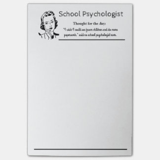 School Psychologist's Funny Mantra Post-it Notes