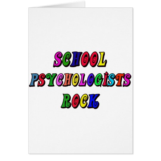 SCHOOL PSYCHOLOGISTS ROCK CARD