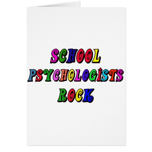 SCHOOL PSYCHOLOGISTS ROCK GREETING CARDS