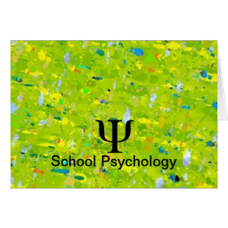 School Psychology Abstract Note Cards