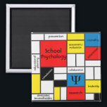 """School Psychology &amp; All That!  Magnet<br><div class=""""desc"""">Some of the many faces of school psychology.  Great item to communicate and promote the many activities of the school psychologist.</div>"""