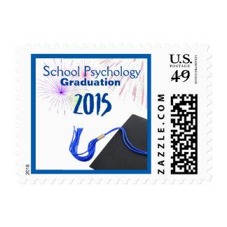 School Psychology Graduation Postage Stamp