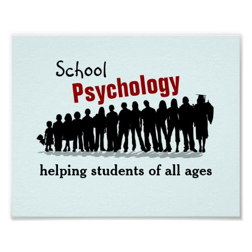 School Psychology Helping All Students Poster Poster