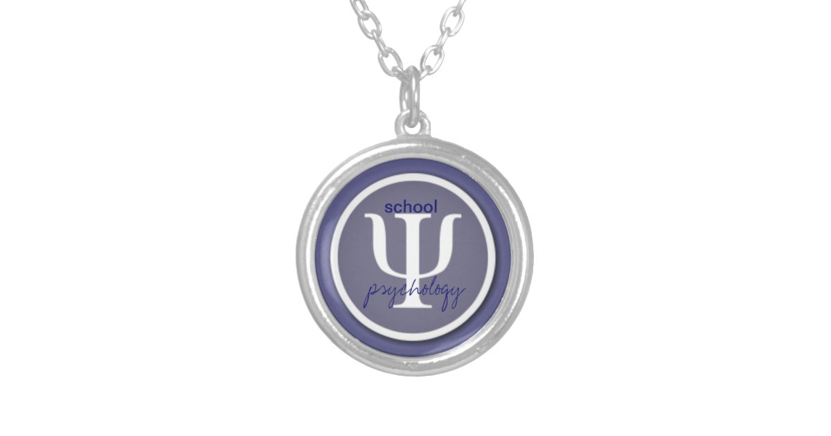 School Psychology Logo Necklace Zazzle