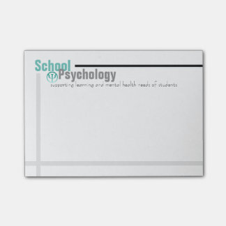 School Psychology Teal and Grey Post-it Notes
