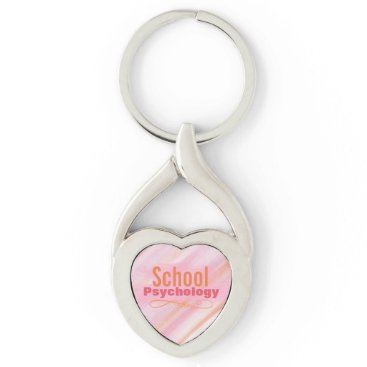 Valentines Themed School Psychology Twisted Heart Key Ring