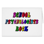 SCHOOL PSYCOLOGIST ROCK GREETING CARD