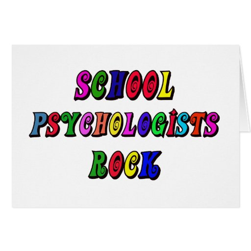 SCHOOL PSYCOLOGIST ROCK GREETING CARD