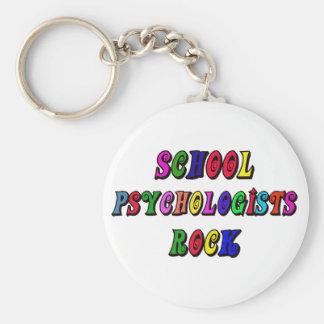 SCHOOL PSYCOLOGIST ROCK BASIC ROUND BUTTON KEYCHAIN