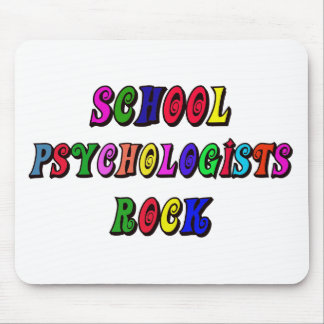 SCHOOL PSYCOLOGIST ROCK MOUSE PAD