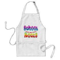 School Rocks - Peace Adult Apron