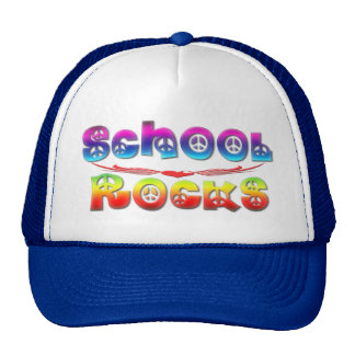 School Rocks - Peace Mesh Hats