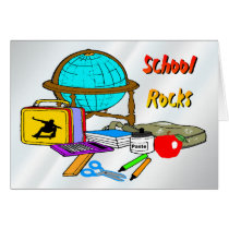 School Rocks - School Supplies Card