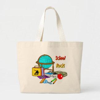 School Rocks - School Supplies Large Tote Bag