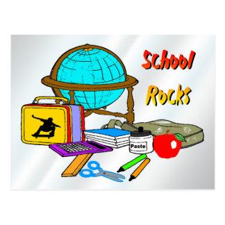 School Rocks - School Supplies Postcard