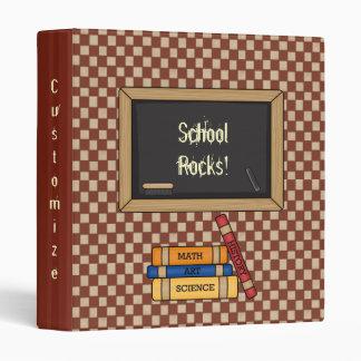 School Rocks! Teacher/Student Custom Notebook 3 Ring Binder