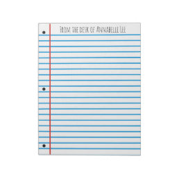 School Rule Notepad