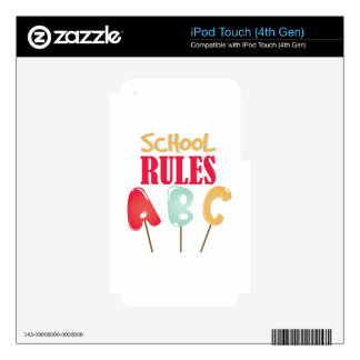 School Rules iPod Touch 4G Skin