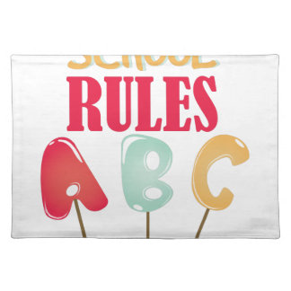 School Rules Placemat