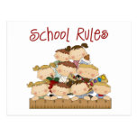 School Rules Postcard