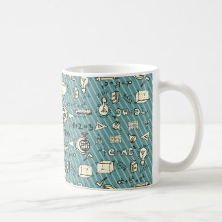School Scribbles and Blue Stripes Coffee Mug
