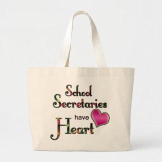 School Secretaries Have Heart Tote Bags