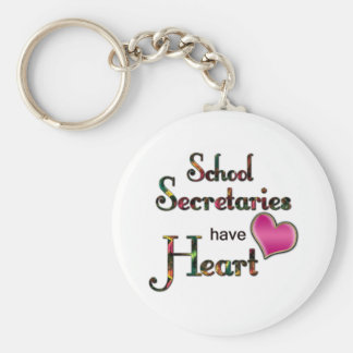 School Secretaries Have Heart Keychain