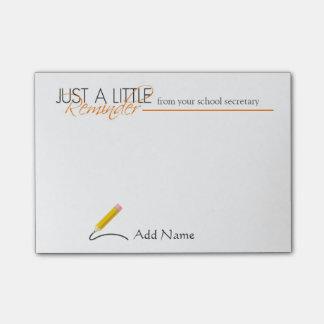 School Secretary Custom Name Post-it Notes