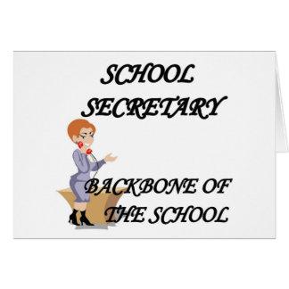 SCHOOL SECRETARY GREETING CARDS