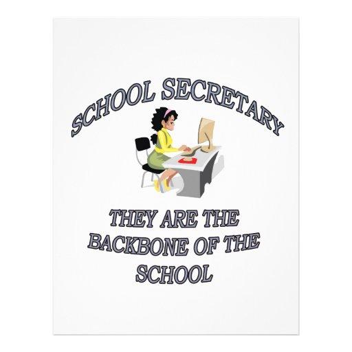 SCHOOL SECRETARY LETTERHEAD