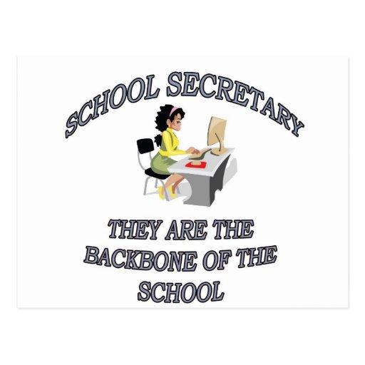 SCHOOL SECRETARY POSTCARDS
