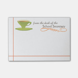 School Secretary Sticky Notes