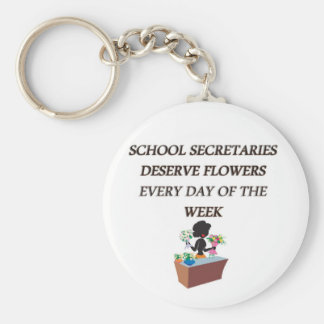 SCHOOL SECRETARYDESERVE FLOWERS KEY CHAINS