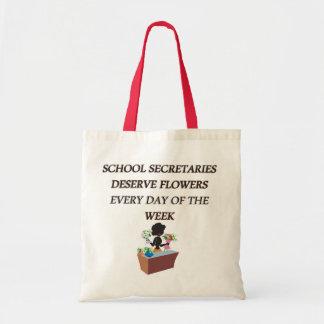 SCHOOL SECRETARYDESERVE FLOWERS TOTE BAG