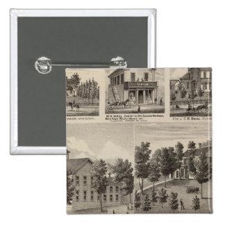 School, Seminary, Residences, Minnesota Button