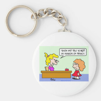 school show and tell invasion privacy keychain