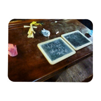 School Slates Rectangular Photo Magnet